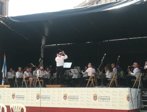 La Banda de Zizur ameniza las fiestas de San Fermín