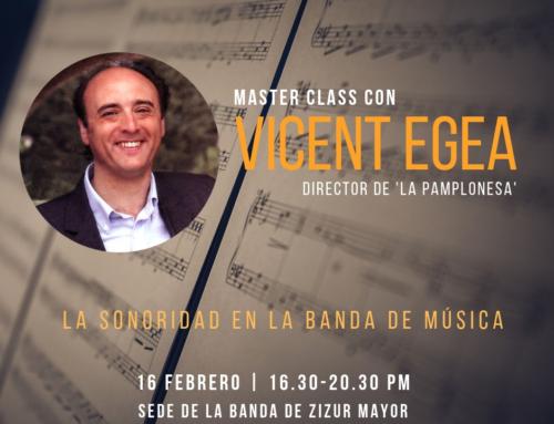¡Apúntate a la Master Class con Vicent Egea!
