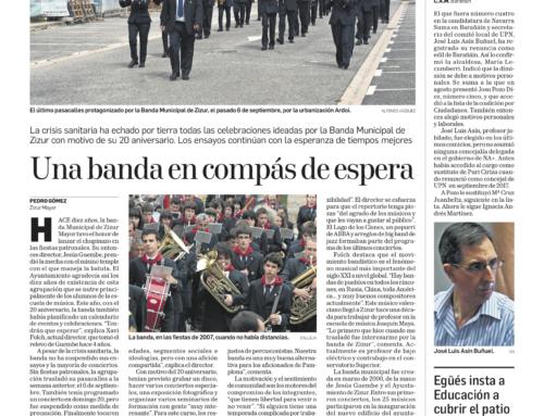 Reportaje sobre la Banda en Diario de Navarra